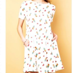 Dresses & Skirts - PINEAPPLE 🍍 & WATERMELON 🍉 PRINT SWING DRESS